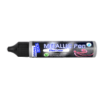 Текстилна боя Metallic Pen JAVANA, 29 ml, сребро