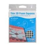 THIN 3D Двойнолепящи Foam Squares, Combo 1mm, стандартна, 217 бр.