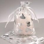 Торбичка от органза, 7,5 x 11,5 cm, сребърна