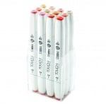Комплект маркери TOUCH TWIN BRUSH, 12 бр., цветове на кожа А