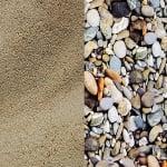Варио картон, 300 g/m2, 50 x 70 cm, 1л, пясък и скала/миди и камъчета