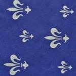 Японска 3D хартия, 35g/m2, 50x70 cm, 1л, синя,  сребърни кралски лилии