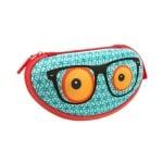 Калъф за очила Beast, 17x6x9cm, синя щампа