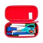 Моливник Colorz, 20x4.5x9cm, лилави триъгълници