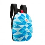 Раница Shell, 32x16x41.5cm, бяло/синьо