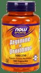 НАУ ФУДС АРГИНИН 500 мг. ОРНИТИН 250 мг. капс.  * 100