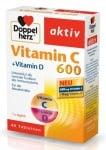 ДОПЕЛХЕРЦ АКТИВ ВИТАМИН С + ВИТАМИН D - повишава имунитета, премахва умора и отпадналост - таблетки х 40, QUEISSER