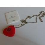 Медальон флашка във формата на сърце с камъни Сваровски
