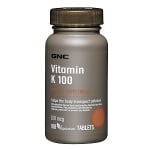 ВИТАМИН К1 - за нормално кръвосъсирване - таблетки 100 мкг. х 100, GNC