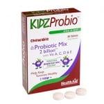 КИДС ПРОБИО - нормализира  храносмилателната система,възстановява микрофлората след лечение с антибиотици - таблетки х 30, HEALTH AID