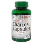 АКТИВЕН ВЪГЛЕН 260 мг при различни стомашни проблеми * 100капсули,  HOLLAND & BARRETT