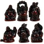 Комплект декоративни статуетки Буда - 6 броя