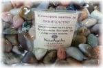 Комплект от естествени камъни за ПРИЯТЕЛСТВО, с пожелание