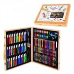 Комплект за оцветяване в дървен куфар /150 елемента/