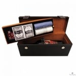 Кутия за вино с комплект за покер