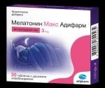МЕЛАТОНИН МАКС - за здрав и спокоен сън - таблетки 3 мг. х 30, ADIPHARM