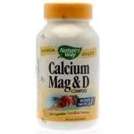 КАЛЦИЙ, МАГНЕЗИЙ И ВИТАМИН D - предпазва от остеопороза - капсули х 100, NATURE'S WAY
