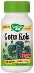 ГОТУ КОЛА - подобрява мозъчното кръвообращение, паметта и концентрацията - капсули х 100, NATURE'S WAY