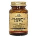 L - МЕТИОНИН 500 мг. за здрави кожа и нокти и за образуването на таурин * 30капсули, СОЛГАР