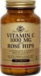 ВИТАМИН Ц + ШИПКИ 1000 мг. укрепват капилярите и подобряват кръвообращението * 100табл., СОЛГАР