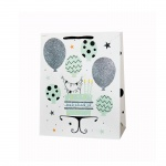Подаръчна торбичка - балони с торта - Happy Birthday