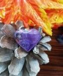 Медальон Сърце от 100% натурален Аметист