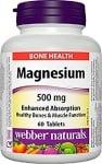 МАГНЕЗИЙ - нужен за правилното функциониране на мускулите, включително и тези на сърцето - таблетки 500 мг. х 60, WABBER NATURALS