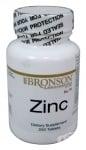 ЦИНК - Повлиява положително различни кожни проблеми - таблетки х 250 броя - BRONSON